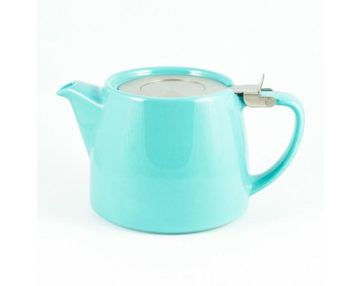 Turquoise Stump Teapot