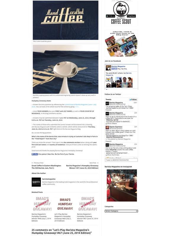 Barista Magazine 07.14